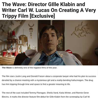 The Wave: Director GIlle Klabin and Writer Carl W. Lucas On Creating A Very Trippy Film [Exclusive]