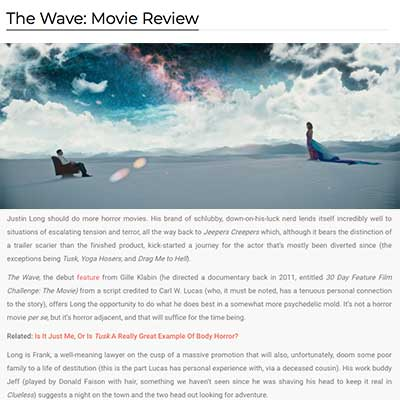 The Wave: Movie Review