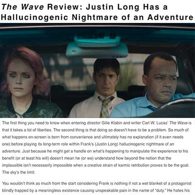 The Wave Review: Justin Long Has a Hallucinogenic Nightmare of an Adventure