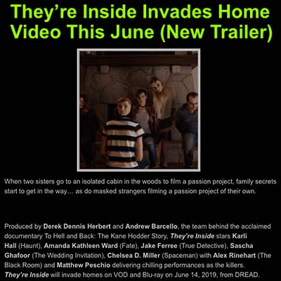 They're Inside Invades Home Video This June (New Trailer)