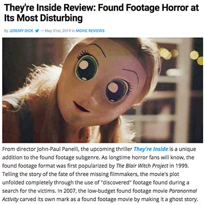 They're Inside Review: Found Footage Horror at Its Most Disturbing