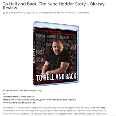 To Hell and Back: The Kane Hodder Story – Blu-ray Review