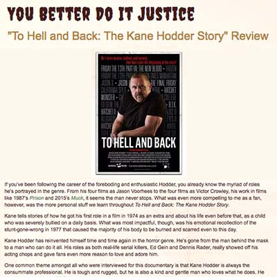 To Hell and Back: The Kane Hodder Story Review