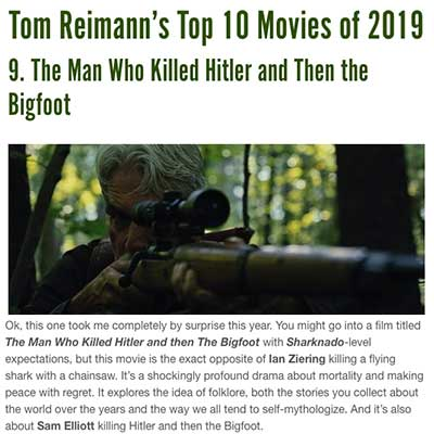 Tom Reimann's Top 10 Movies of 2019