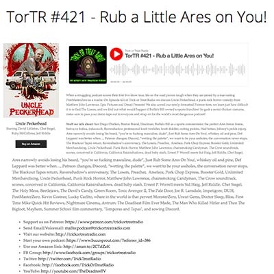 TorTR #421 - Rub a Little Ares on You!