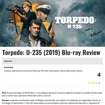 Torpedo: U-235 (2019) Blu-ray Review