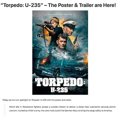 """Torpedo: U-235"" – The Poster & Trailer are Here!"