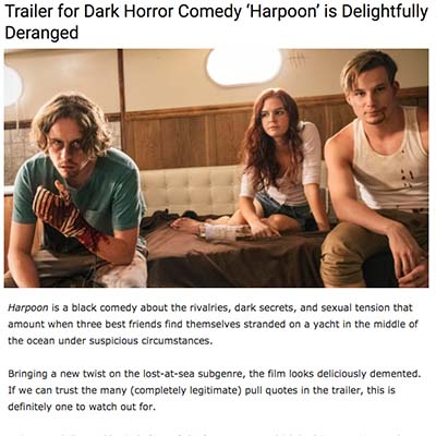 Trailer for Dark Horror Comedy 'Harpoon' is Delightfully Deranged