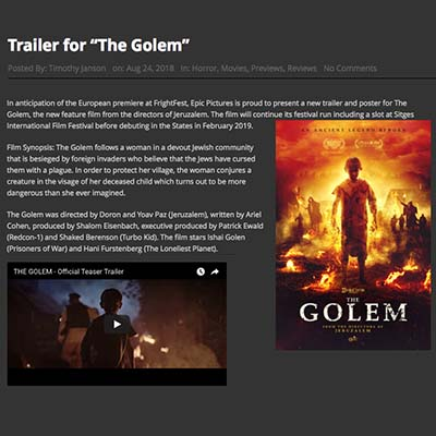 "Trailer for ""The Golem"""