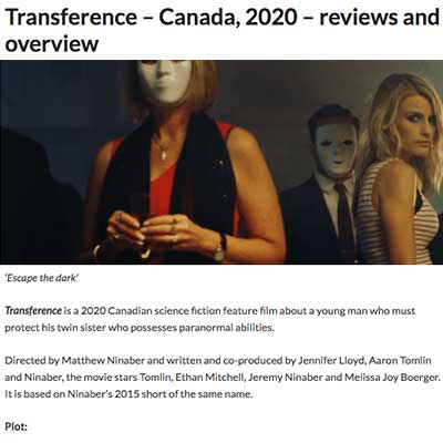 Transference – Canada, 2020 – reviews and overview