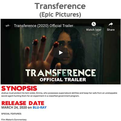 Transference (Epic Pictures)