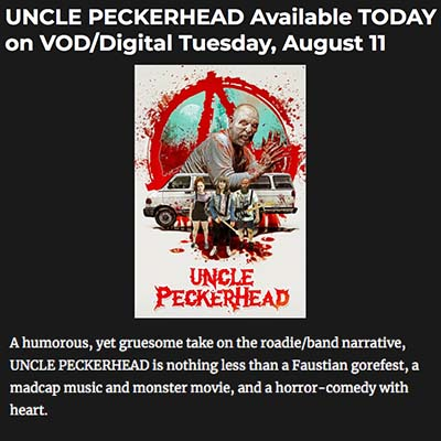 UNCLE PECKERHEAD Available TODAY on VOD/Digital Tuesday, August 11