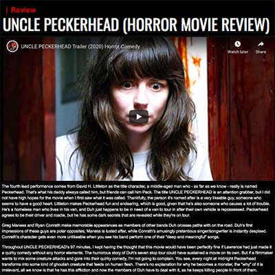 UNCLE PECKERHEAD (HORROR MOVIE REVIEW)