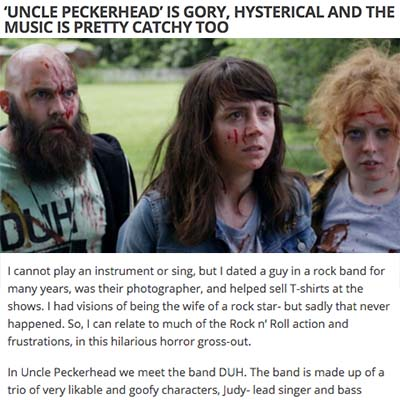 'UNCLE PECKERHEAD' IS GORY, HYSTERICAL AND THE MUSIC IS PRETTY CATCHY TOO