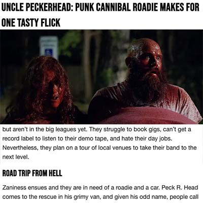 UNCLE PECKERHEAD: Punk Cannibal Roadie Makes For One Tasty Flick