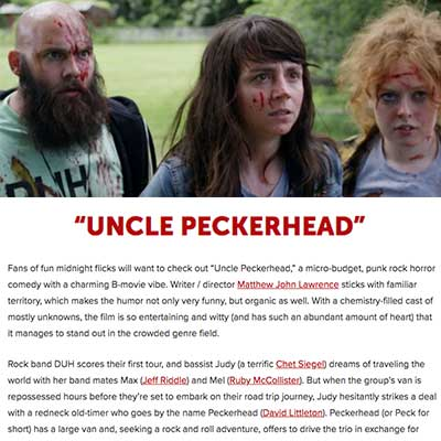 """UNCLE PECKERHEAD"" - Screen Zealots"
