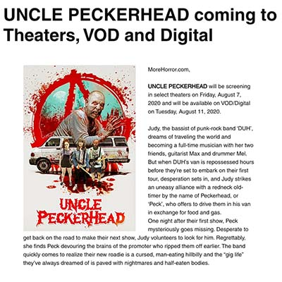 UNCLE PECKERHEAD coming to Theaters, VOD and Digital