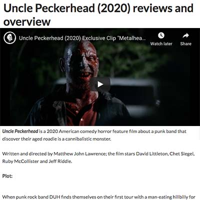 Uncle Peckerhead (2020) reviews and overview