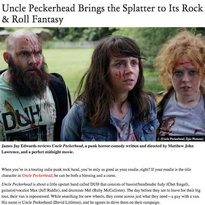 Uncle Peckerhead Brings the Splatter to Its Rock & Roll Fantasy