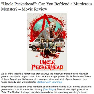 """Uncle Peckerhead"": Can You Befriend a Murderous Monster? – Movie Review"