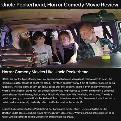 Uncle Peckerhead, Horror Comedy Movie Review