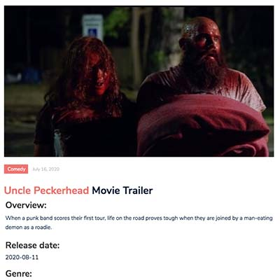 Uncle Peckerhead Movie Trailer