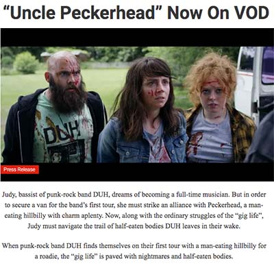 """Uncle Peckerhead"" Now On VOD"