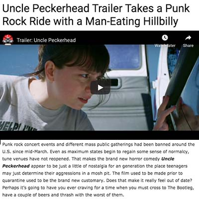 Uncle Peckerhead Trailer Takes a Punk Rock Ride with a Man-Eating Hillbilly
