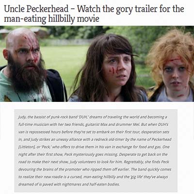 Uncle Peckerhead – Watch the gory trailer for the man-eating hillbilly movie