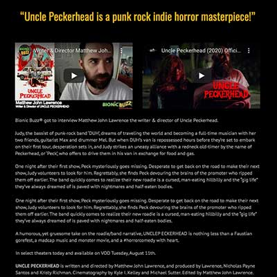"""Uncle Peckerhead is a punk rock indie horror masterpiece!"""