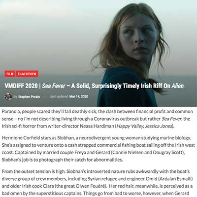 VMDIFF 2020 | Sea Fever – A Solid, Surprisingly Timely Irish Riff On Alien