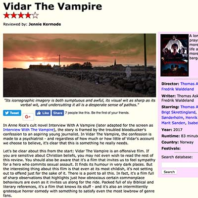 Vidar The Vampire (2017) Film Review