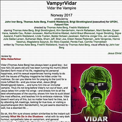Vidar the Vampire- Review