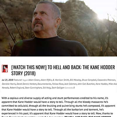 [WATCH THIS NOW!] TO HELL AND BACK: THE KANE HODDER STORY (2018)