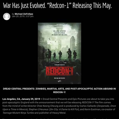 "War Has Just Evolved. ""Redcon-1"" Releasing This May."