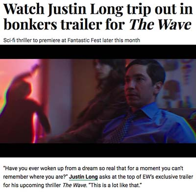 Watch Justin Long trip out in bonkers trailer for The Wave