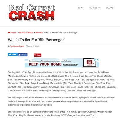 Watch Trailer For '5th Passenger'
