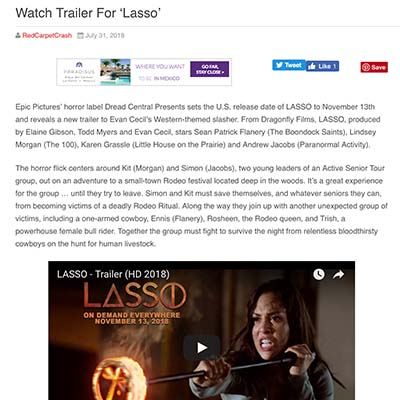 Watch Trailer For 'Lasso'