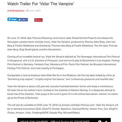 Watch Trailer For 'Vidar The Vampire'