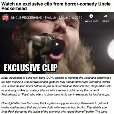 Watch an exclusive clip from horror-comedy Uncle Peckerhead