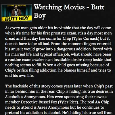 Watching Movies - Butt Boy