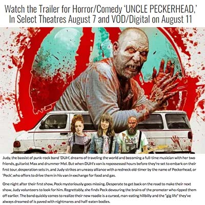 Watch the Trailer for Horror/Comedy 'UNCLE PECKERHEAD,' In Select Theatres August 7 and VOD/Digital on August 11