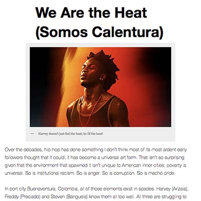 We Are the Heat (Somos Calentura)