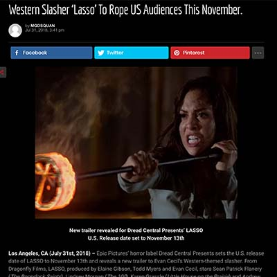 Western Slasher 'Lasso' To Rope US Audiences This November.