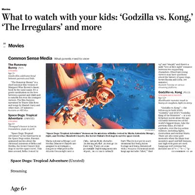 What to watch with your kids: 'Godzilla vs. Kong,' 'The Irregulars' and more
