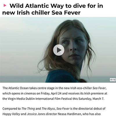 Wild Atlantic Way to dive for in new Irish chiller Sea Fever