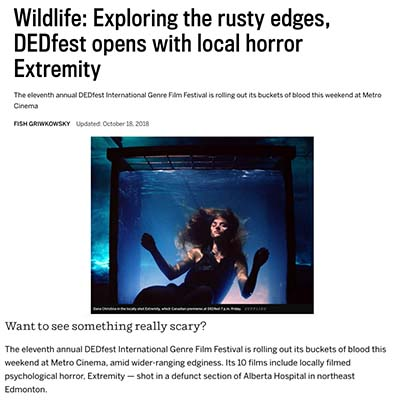 Wildlife: Exploring the rusty edges, DEDfest opens with local horror Extremity