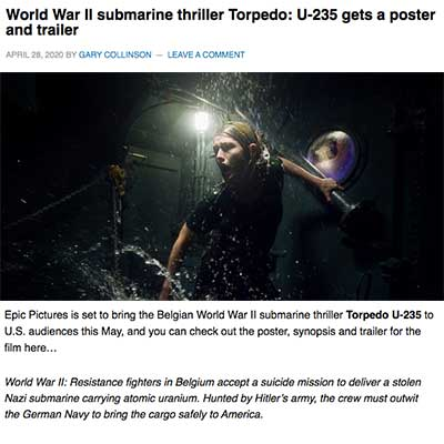 World War II submarine thriller Torpedo: U-235 gets a poster and trailer