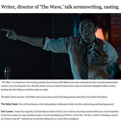 Writer, director of 'The Wave,' talk screenwriting, casting