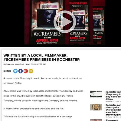 Written by a local filmmaker, #Screamers premieres in Rochester